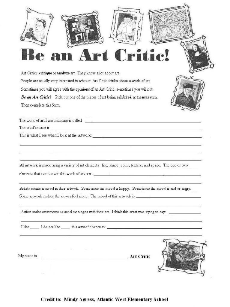 810_Art_Critic_Form_Primary_Grades_K-2_clear