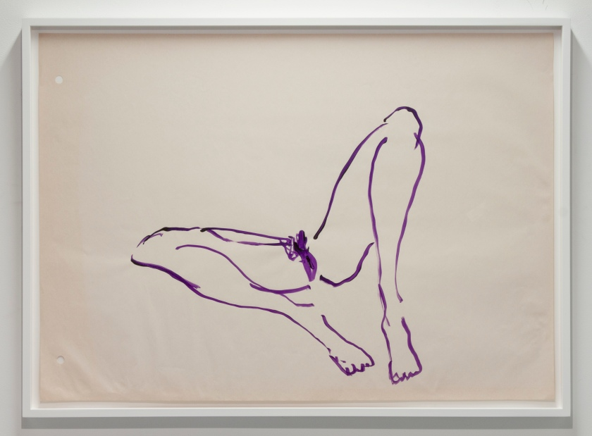Untitled(Purple Virgin Sketch), 2004, Tracey Emin, acrylic on paper.