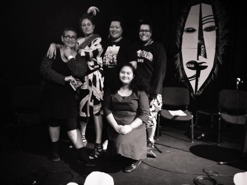 left to right: Leafa Wilson, Rosanna Raymond, Margaret Aull, Louise Tu'u and Ema Tavola, photo credit: Ema Tavola, photo courtesy: Instagram